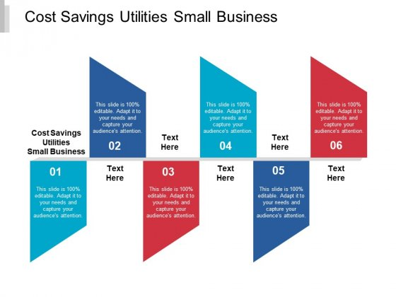 Cost Savings Utilities Small Business Ppt PowerPoint Presentation Show Good Cpb