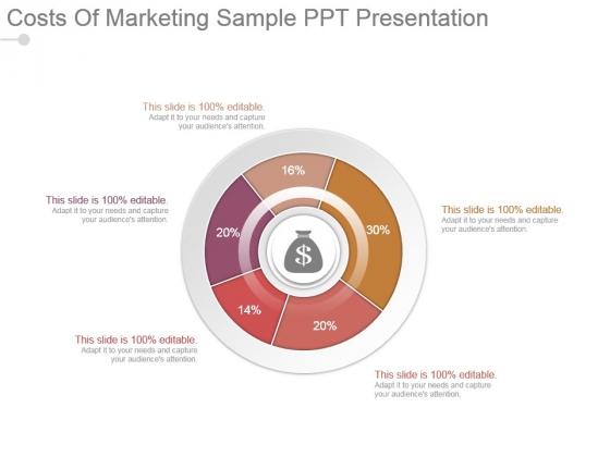 Costs Of Marketing Sample Ppt Presentation