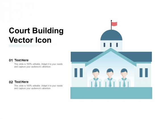Court Building Vector Icon Ppt PowerPoint Presentation Infographics Tips