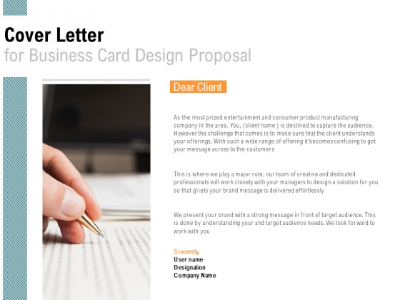 Cover Letter For Business Card Design Proposal Agenda Ppt PowerPoint Presentation Ideas Graphics Download