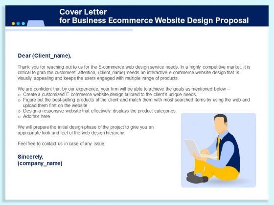 E Commerce Cover Letter from www.slidegeeks.com