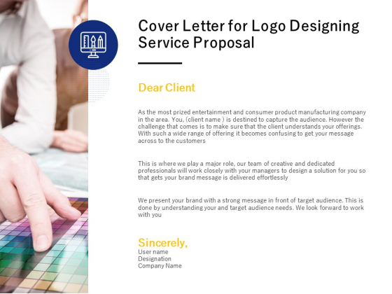 Cover Letter For Logo Designing Service Proposal Ppt PowerPoint Presentation Professional Show