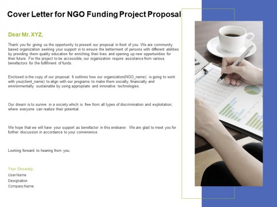 Cover Letter For Ngo Funding Project Proposal Ppt Powerpoint Presentation Styles Grid Powerpoint Templates