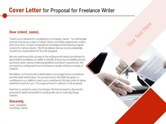 Cover Letter For Proposal For Freelance Writer Ppt PowerPoint Presentation Outline Background PDF