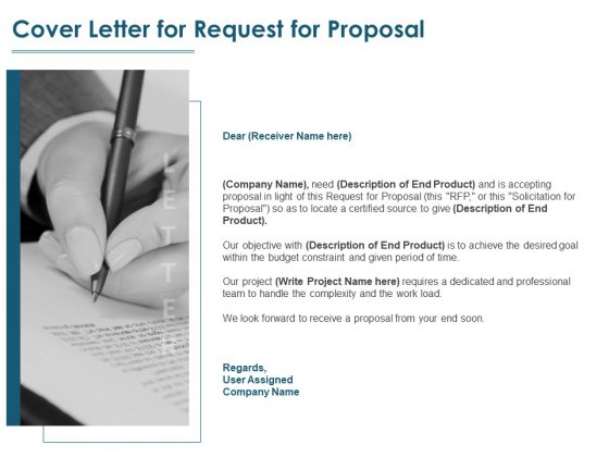 Cover Letter For Request For Proposal Ppt PowerPoint Presentation Outline Files