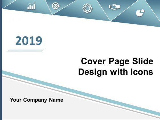 Cover Page Slide Design With Icons Ppt Powerpoint