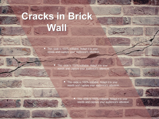 Cracks In Brick Wall Ppt PowerPoint Presentation Summary Deck