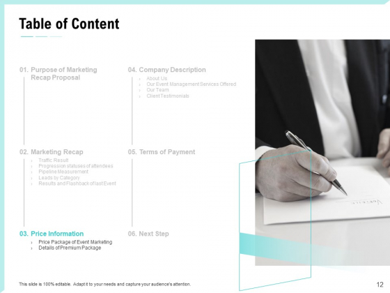 Craft_The_Perfect_Event_Proposal_Ppt_PowerPoint_Presentation_Complete_Deck_With_Slides_Slide_12