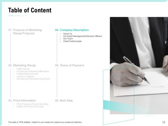 Craft_The_Perfect_Event_Proposal_Ppt_PowerPoint_Presentation_Complete_Deck_With_Slides_Slide_15