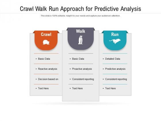 Crawl Walk Run Approach For Predictive Analysis Ppt PowerPoint Presentation File Maker PDF