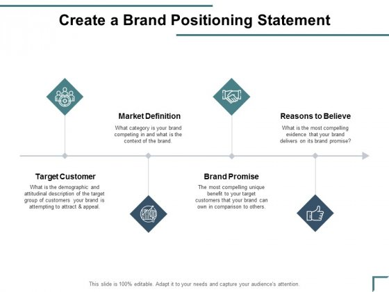 Create A Brand Positioning Statement Ppt PowerPoint Presentation Icon Background