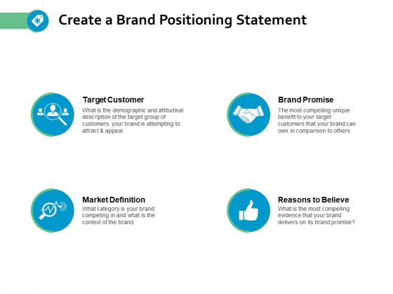 Create A Brand Positioning Statement Ppt Powerpoint Presentation Pictures Ideas
