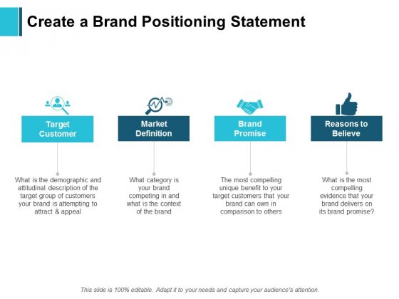 Create A Brand Positioning Statement Ppt PowerPoint Presentation Pictures Mockup