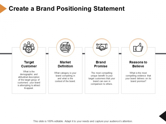 Create A Brand Positioning Statement Ppt PowerPoint Presentation Styles Picture