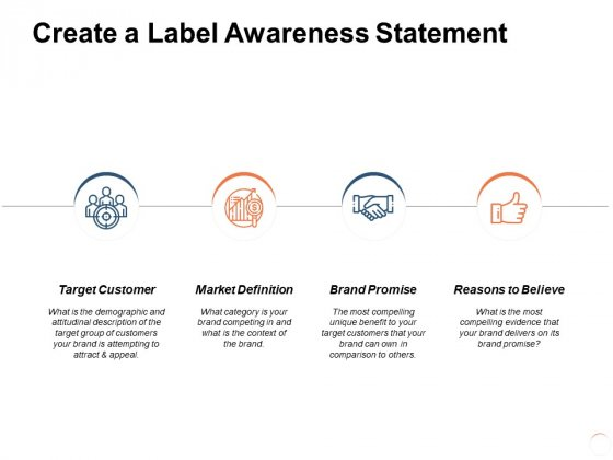 Create A Label Awareness Statement Ppt PowerPoint Presentation File Inspiration