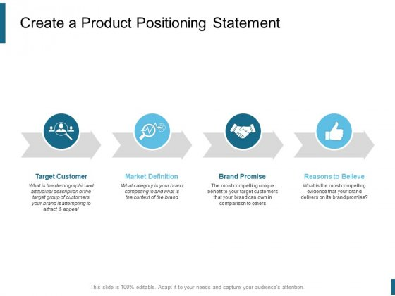 Create A Product Positioning Statement Ppt PowerPoint Presentation Portfolio Slide