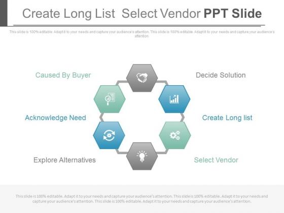 Create Long List Select Vendor Ppt Slide