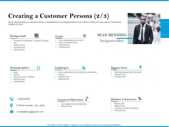 Creating A Customer Persona Fear Sample PDF