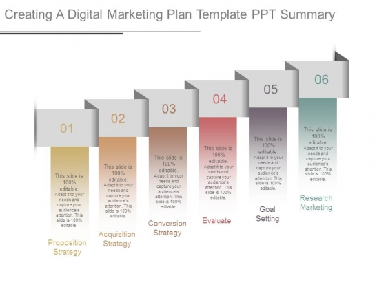 Creating A Digital Marketing Plan Template Ppt Summary Powerpoint
