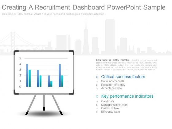 Creating A Recruitment Dashboard Powerpoint Sample