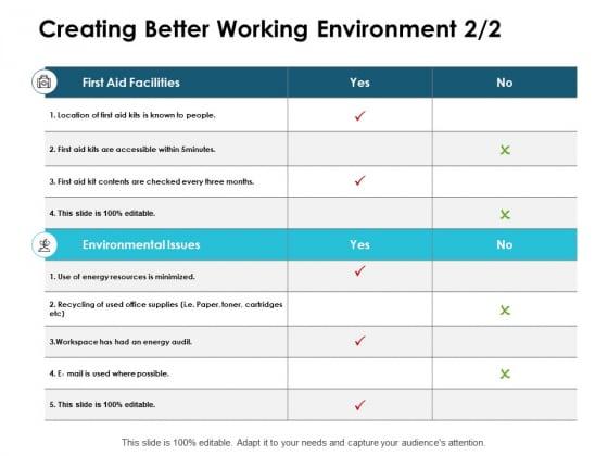 Creating Better Working Environment Management Marketing Ppt PowerPoint Presentation Summary Design Inspiration