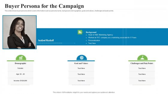 Creating_Successful_Advertising_Campaign_Buyer_Persona_For_The_Campaign_Portrait_PDF_Slide_1