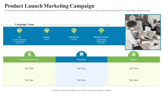 Creating Successful Advertising Campaign Product Launch Marketing Campaign Slides PDF