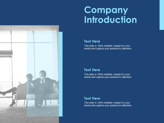 Creating The Best Sales Strategy For Your Business Company Introduction Ppt Icon Graphics Design PDF