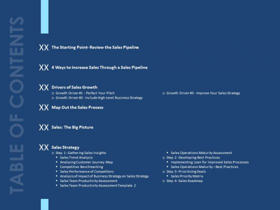 Creating The Best Sales Strategy For Your Business Table Of Contents Ppt Portfolio Guidelines PDF
