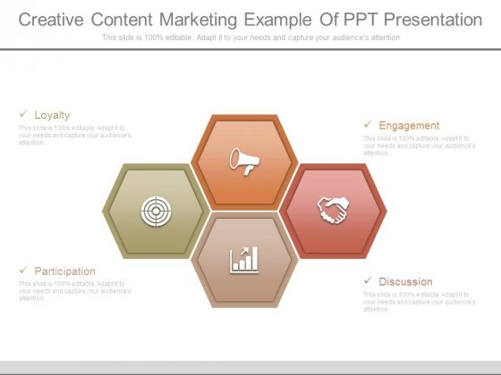 Creative Content Marketing Example Of Ppt Presentation