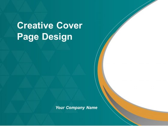 Creative Cover Page Design Ppt Powerpoint Presentation
