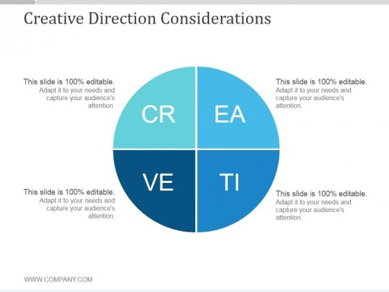 Creative Direction Considerations Ppt PowerPoint Presentation Samples