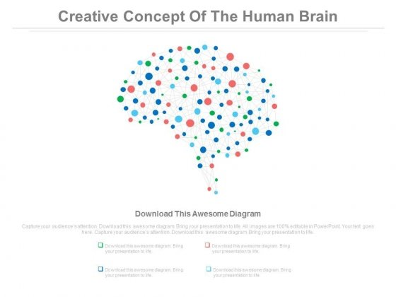Creative Ideas Human Brain Diagram Powerpoint Slides