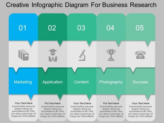 creative infographic diagram for business research powerpoint, Powerpoint templates