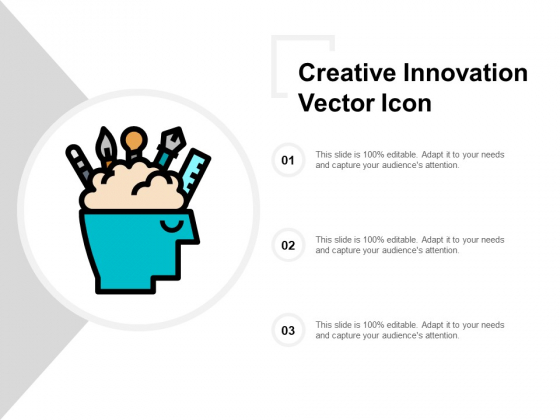 Creative Innovation Vector Icon Ppt Powerpoint Presentation Pictures Microsoft