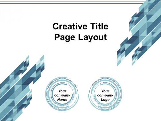 Creative Title Page Layout Ppt Powerpoint Presentation Model