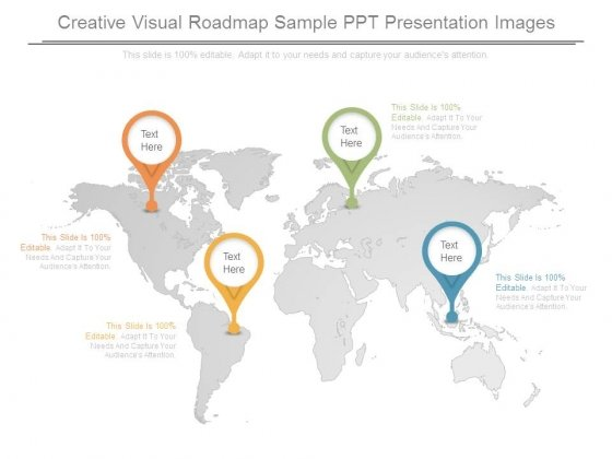 Creative Visual Roadmap Sample Ppt Presentation Images