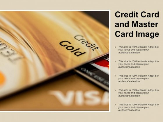 Credit Card And Master Card Image Ppt PowerPoint Presentation Ideas Graphic Images