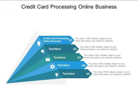 Credit Card Processing Online Business Ppt PowerPoint Presentation Model Deck Cpb
