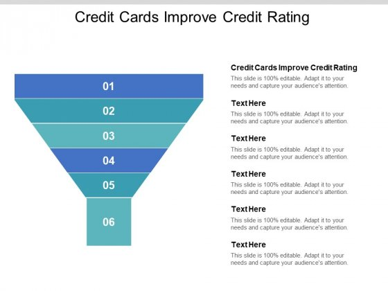 Credit Cards Improve Credit Rating Ppt PowerPoint Presentation Styles Example Introduction Cpb Pdf