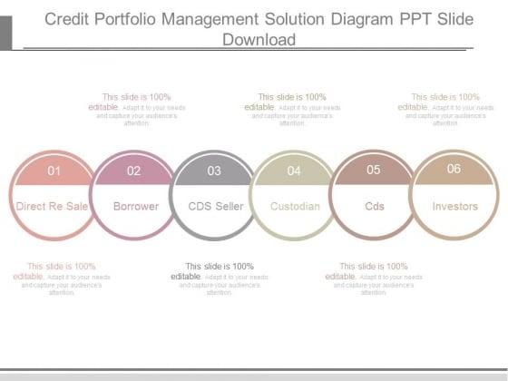 credit portfolio management solution diagram ppt slide download