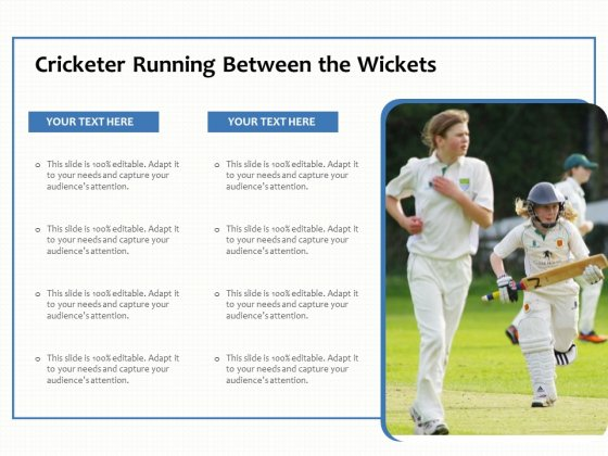 Cricketer Running Between The Wickets Ppt PowerPoint Presentation Gallery Templates PDF
