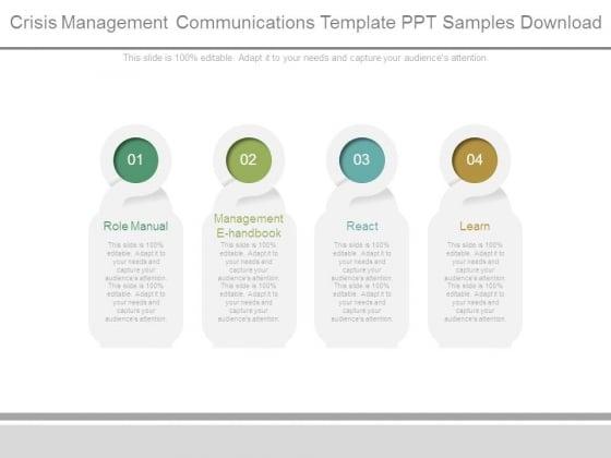 Crisis Management Communications Template Ppt Samples Download