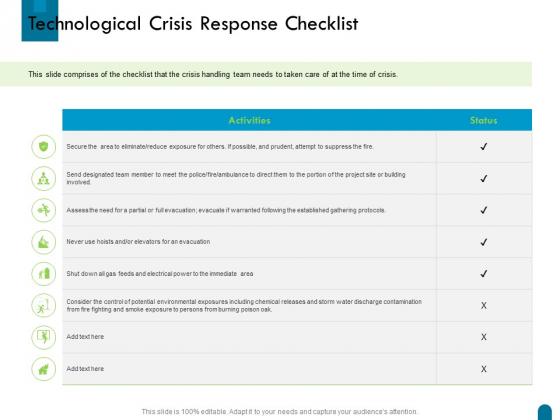 Crisis Management Technological Crisis Response Checklist Ppt Guide PDF