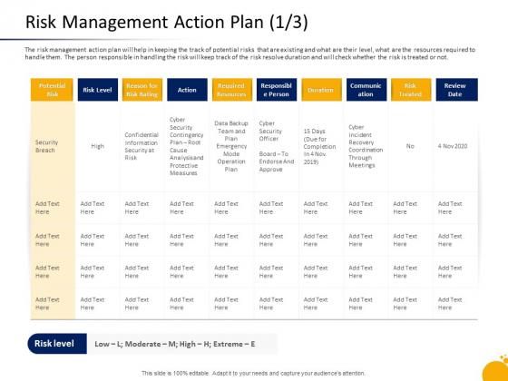 Crisis Program Presentation Risk Management Action Plan Security Inspiration PDF