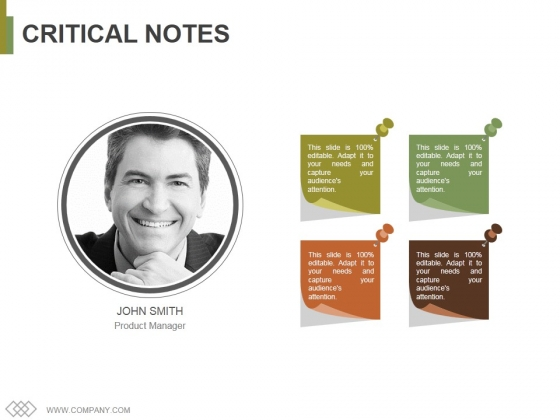 Critical Notes Ppt PowerPoint Presentation Professional Graphics Design