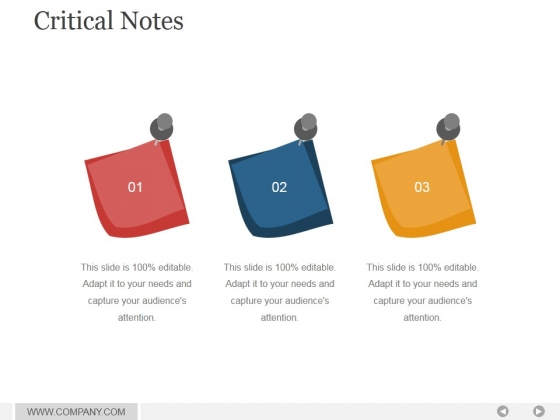 Critical Notes Ppt PowerPoint Presentation Slide Download