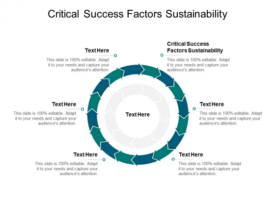 Critical Success Factors Sustainability Ppt PowerPoint Presentation Layouts Examples Cpb Pdf
