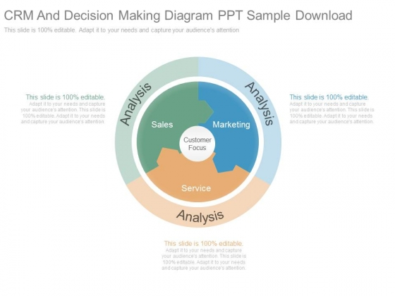 Crm And Decision Making Diagram Ppt Sample Download