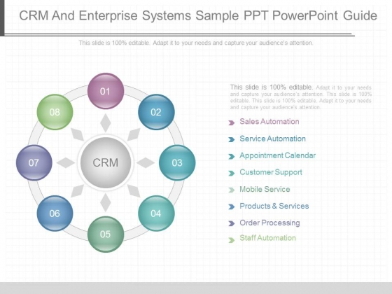 Crm And Enterprise Systems Sample Ppt Powerpoint Guide